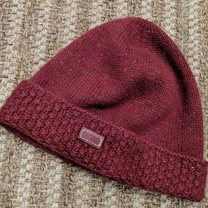 Coach Beanie Hat Wool Blend